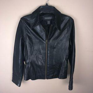 Banana Republic Black Genuine Leather Jacket